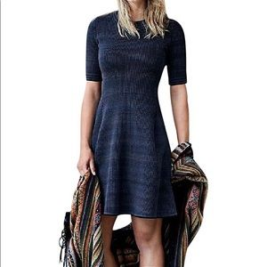 Athleta space dyed ribbed fit and flare dress wool